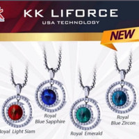 KK Liforce Royal Crystal Emerald, Light sia,Blue Sapphire,Blue Zircon