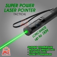 Super Power Laser Pointer Green Beam (Bahan metal)