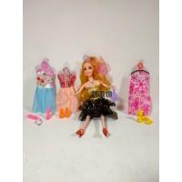 Mainan Anak Perempuan Boneka Barbie Elegant Girl Sepatu Baju Aksesoris