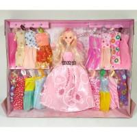 Mainan Anak Perempuan Boneka Barbie Fashion Dresser Salon Baju Dress