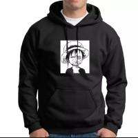 jaket hoodie simple blac onepiece