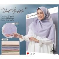 Hijab Jilbab Kerudung Segiempat Voal Waffle (Lc) By Umama uk 110*110