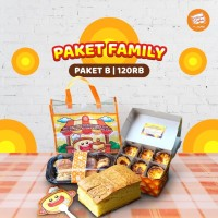 Paket Family B (Bolu KEJU + Egg Tart + Roti Unyil + Tas + Kipas)