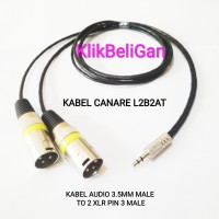 Kabel Canare L2B2AT Jack Aux 3.5mm Male To 2 XLR Pin 3 Male 0,5Meter