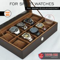 JUMBO - Kotak Jam Tangan Isi 10 LARGE SIZE Kualitas Super [PROMO] - Full Brown