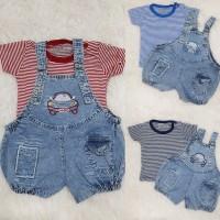 Baju Bayi Laki laki Overall Anak Jeans Car