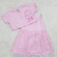 Baju Dress Bayi Perempuan Dress Anak Bolero Brokat Owl