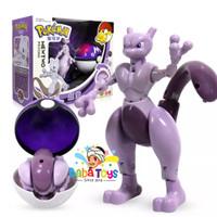 Mainan Anak Pokemon Pokeball Deformation Toy Mewtwo Original New
