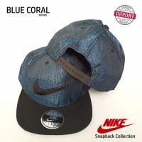Topi Snapback / Baseball Nike Blue Coral Premium High Quality Import