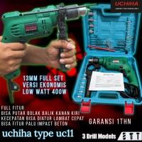 mesin bor 13mm uchiha impact drill bor tangan bor listrik set koper