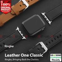Tali Jam Apple Watch Series 5 4 3 2 1 Ringke Leather One Strap 44 42mm - Hitam