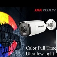 HIKVISION CAMERA CCTV OUTDOOR DS-2CE10DFT-FC COLORVU 2MP SELALU WARNA