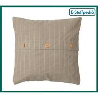 FESTHOLMEN Sarung bantal kursi cushion 50X50, gray/strip IKEA