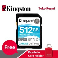 Kingston SD Card Canvas Go! Plus Class 10 SDXC 512GB