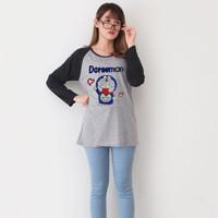 TKOPPA _Atasan wanita | Kaos Raglan Doraemon| Kaos lengan panjang