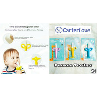 Banana Silicone Teether And Toothbrush (Gigitan Bayi)/ Teether Banana