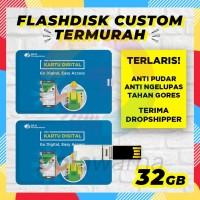 Flashdisk Kartu Custom Logo 32GB / Flashdisk Kartu ID Card 32 GB