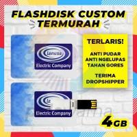 Custom Flashdisk Promosi 4GB / USB Flashdisk Kartu Custom Print 4 GB