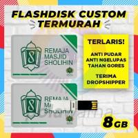 Flashdisk Kartu Custom Logo 8GB / Flashdisk Kartu USB Card Custom 8 GB