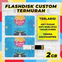 Flashdisk Kartu Custom Logo 2GB / USB Custom Flashdisk Promosi 2 GB
