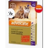 advocate large cat obat kutu kucing berat badan 4-8 kg per tube