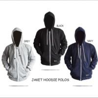 Jaket Jacket Hoodie Polos Premium Quality Pria Wanita