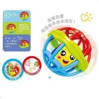 Mainan Bayi Bola Kerincingan Silicon Gigitan Bayi