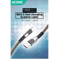 ACOACOME KaME Kabel Data/Charger Type-C Quick Charge 3.0 Fast Charging