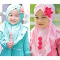 Kerudung Anak BUNGA KANCING jilbab bayi anak murah