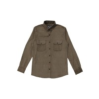 Worth ID Corduroy Shirt Stone - S