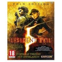 (Game PC dan LAPTOP) 4kaset DVD RESIDENT EVIL 5 GOLD (PORTABLE)