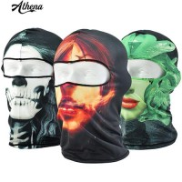 3D Skull Dicetak Balaclava Motor Cycling Neck Full Face Mask Perl