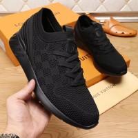 Sepatu Sneakers LV Louis Vuitton Cowok Branded Asli Import Mirror Ori