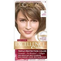 L'Oreal Paris Excellence Creme Permanent Hair Color, 6 Light Brown, 10