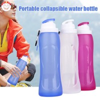 Botol Air Minum Portable 500ml Bahan Silikon Anti Bocor untuk Travel