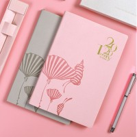 Terlaris 2020 Year A5 PU Leather Notebook Weekly Monthly Planner