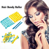 /VF12pcs Soft Magic Hair Curler Bendy Roller Curl DIY Salon Hair