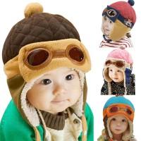 Topi Kupluk Bayi / Anak Laki-laki / Perempuan Desain Kacamata Lucu