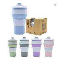 Collapsible Coffee Cup / Gelas Kopi Lipat Silicone Foldable 300ml H335