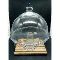 BIGPROMO Tempat kue tutup kaca Glass Bell Jar & COCKTAIL 27CM BB123
