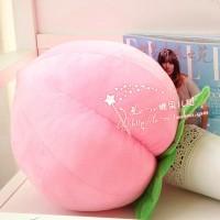 Mainan Boneka Plush Simulasi Buah Peach Besar Warna Pink