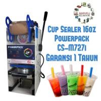 Cup Sealer Manual Powerpack CS-M727i Garansi 1 tahun Mesin Penyegel /