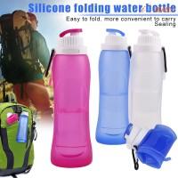 Botol Air Minum Portable 500ml Bahan Silikon untuk Outdoor / Travel