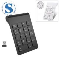 Keyboard Numerik 18 Tombol Wireless 2.4GHz Warna Putih untuk Laptop