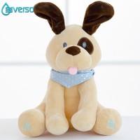 Mainan Boneka Plush Gajah Dapat Bermain Cilukba+Bernyanyi Ukuran