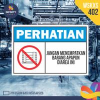 stiker rambu keselamatan label k3 safety sign sticker imo WSKXS-402