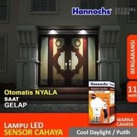 Hannochs Light Sensor 11 watt Bola Lampu Bohlam LED Sensor Cahaya - 11