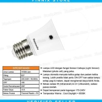 Hannochs Light Sensor 6 watt Bola Lampu Bohlam LED Sensor Cahaya - 6