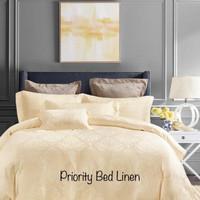 Bed cover & sprei Tencel warna kuning (Sutra organik)