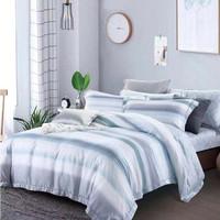 Bed cover & sprei Tencel motif minimalis (Sutra organik)